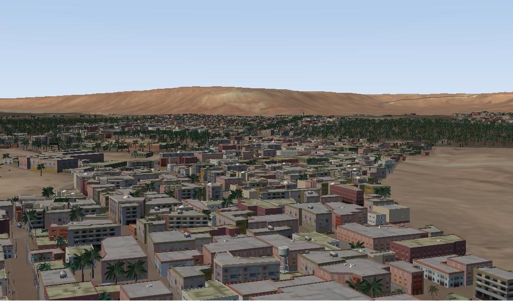 Virtual Mockup of a desert