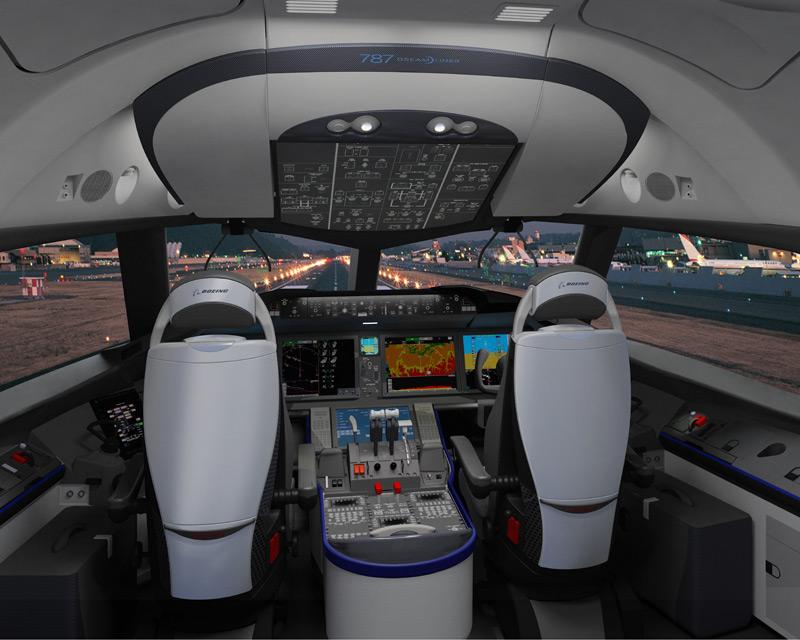 Boeing cockpit simulator